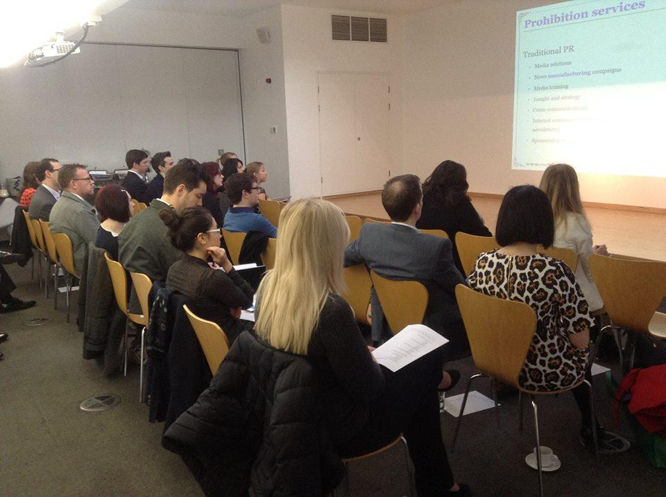 Our event had a great turnout, with over 30 industry professionals in attendance.