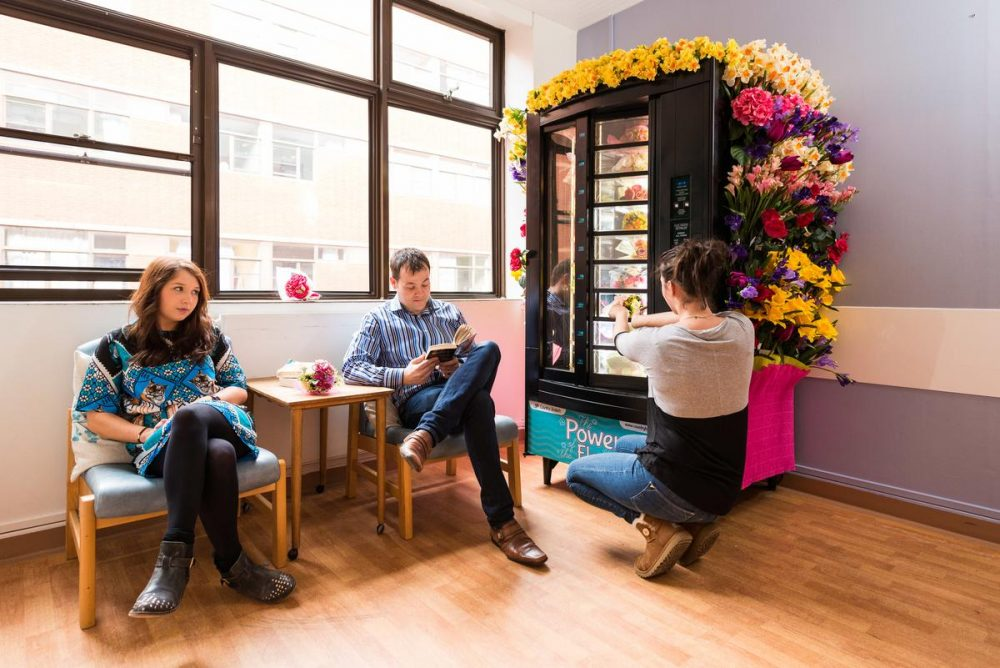 Prohibition PR Launching the world's first 'fake flower' vending machine fo